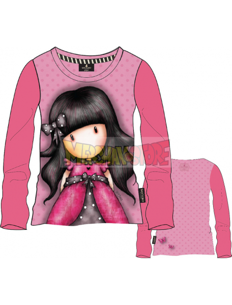 Camiseta manga larga niña Gorjuss - Lazo rosa 8 años