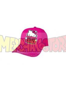 Gorra niña Hello Kitty rosa fucsia con purpurina