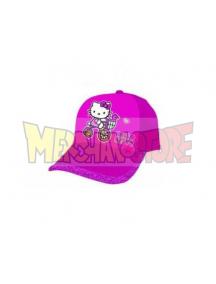 Gorra niña Hello Kitty triciclo con purpurina