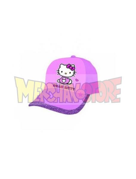 Gorra niña Hello Kitty rosa - lila con purpurina