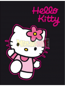 Manta polar Hello Kitty negra