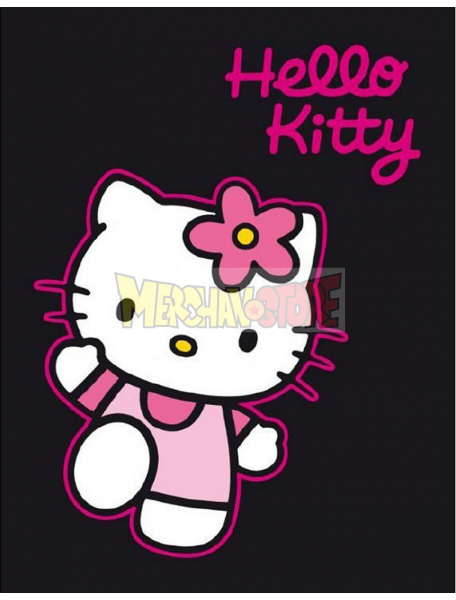 Manta polar Hello Kitty negra