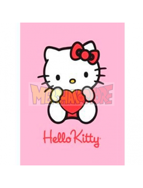 Manta polar Hello Kitty corazón