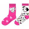 Pack de dos calcetines niña 101 Dálmatas Talla 31-34