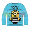 Camiseta niño manga larga Minions - I didn't do it celeste 4 años 104cm