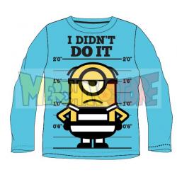 Camiseta niño manga larga Minions - I didn't do it celeste 9 años 134cm