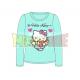 Camiseta niña manga larga Hello Kitty - Angel corazón turquesa 4 años 104cm