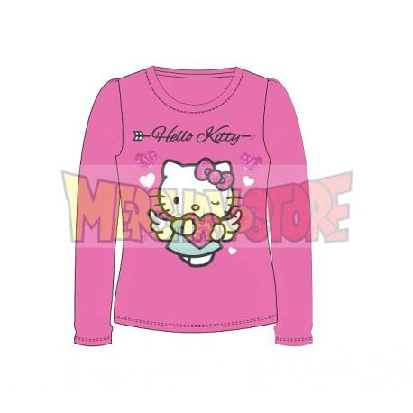 Camiseta niña manga larga Hello Kitty - Angel corazón rosa 5 años 110cm
