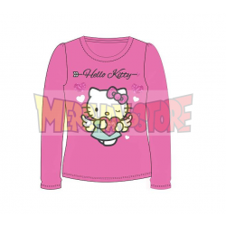 Camiseta niña manga larga Hello Kitty - Angel corazón rosa 6 años 116cm