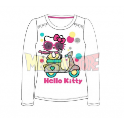 Camiseta manga larga Hello Kitty - Moto blanca 7 años 122cm