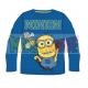 Camiseta niño manga larga Minions - Saludo azul 4 años 104cm