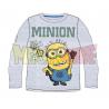Camiseta niño manga larga Minions - Saludo gris 8 años 128cm
