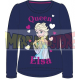 Camiseta niña manga larga Frozen - Elsa Queen azul marino 5 años 110cm