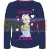 Camiseta niña manga larga Frozen - Elsa Queen azul marino 6 años 116cm