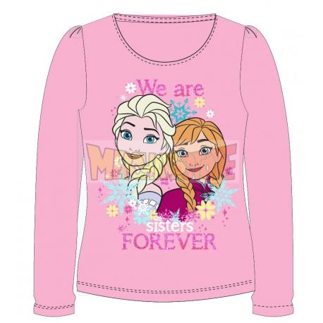 Camiseta manga larga niña Frozen - We are sisters forever rosa 6 años 116cm
