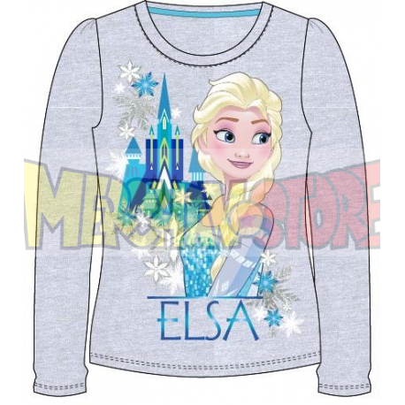Camiseta manga larga niña Frozen - Elsa castillo gris 9 años 134cm