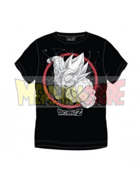 Camiseta adulto manga corta Dragon Ball Z - Puño negra Talla XL