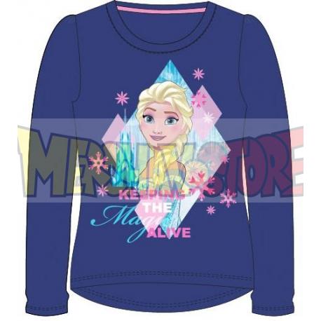 Camiseta manga larga niña Frozen - Keeping the magic alive azul marino 6 años 116cm