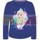 Camiseta manga larga niña Frozen - Keeping the magic alive azul marino 8 años 128cm