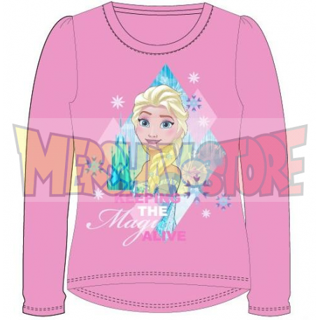 Camiseta manga larga niña Frozen - Keeping the magic alive rosa 4 años 104cm