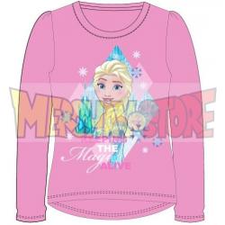 Camiseta manga larga niña Frozen - Keeping the magic alive rosa 7 años 122cm