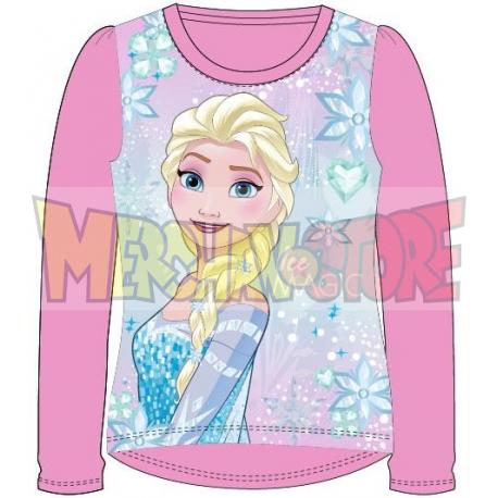 Camiseta manga larga niña Frozen - Ice magic rosa 6 años 116cm