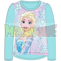 Camiseta manga larga niña Frozen - Ice magic celeste 5 años 110cm