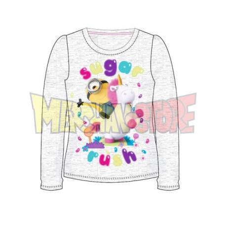 Camiseta manga larga niña Minions - Sugar Rush gris 9 años 134cm