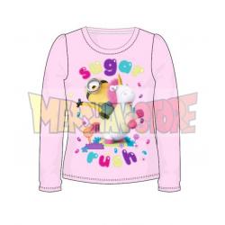 Camiseta manga larga niña Minions - Sugar Rush rosa 4 años 104cm