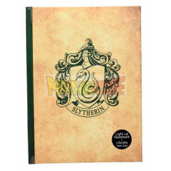 Libreta Premium con luz Harry Potter - Slytherin