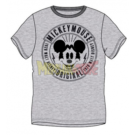 Camiseta adulto manga corta Mickey Mouse gris Talla S