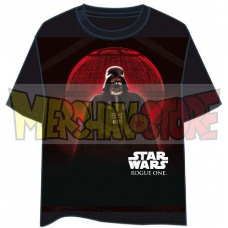 Camiseta Star Wars Rogue One - Vader Moon Talla XL