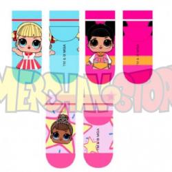 Set de 3 calcetines LOL Surprise Talla 27-30