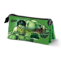 Estuche portatodo 3 cremalleras Hulk