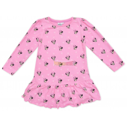Vestido niña manga larga Minnie Mouse rosa 3 años 98cm