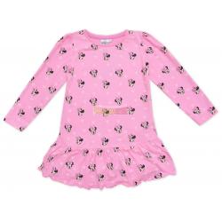 Vestido niña manga larga Minnie Mouse rosa 7 años 122cm
