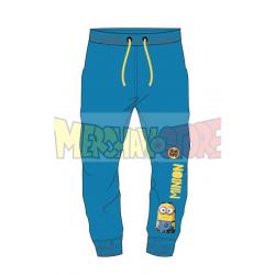 Pantalon chandal niño Minions azul 8 años 128cm