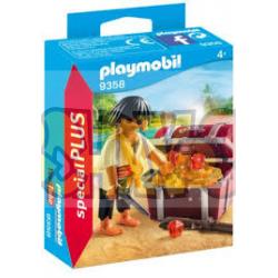 Playmobil - 9358 Pirata con cofre del tesoro