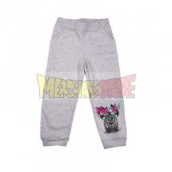 Pantalón de chándal niña Furby gris 8 años 128cm