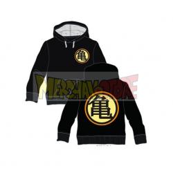 Sudadera con capucha niño Dragon Ball - Kame House logo negra 8 años 128cm