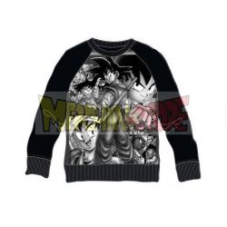 Sudadera niño Dragon Ball Z - Personajes negra 8 años 128cm