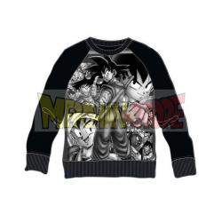 Sudadera niño Dragon Ball Z - Personajes negra 10 años 140cm