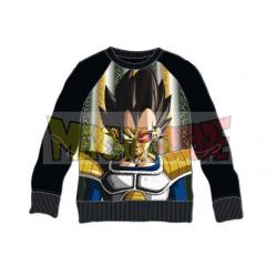 Sudadera niño Dragon Ball Z - Vegeta guerrero del espacio negra 8 años 128cm
