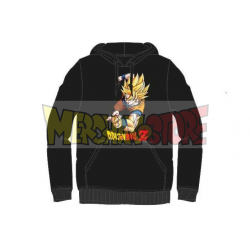 Sudadera con capucha adulto Dragon Ball Z- Goku negra Talla S