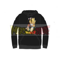 Sudadera con capucha adulto Dragon Ball Z- Goku negra Talla XL
