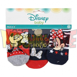 Pack de 3 calcetines bebé Disney - Minnie Mouse 0-6 meses