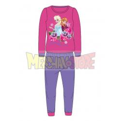 Pijama polar niña Disney - Frozen lila 3 años 98cm