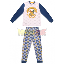 Pijama de invierno Harry Potter blanco - azul 6 años 116cm