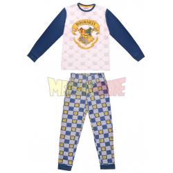 Pijama de invierno Harry Potter blanco - azul 14 años 164cm