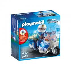 Playmobil - 6923 Moto de policía con luces